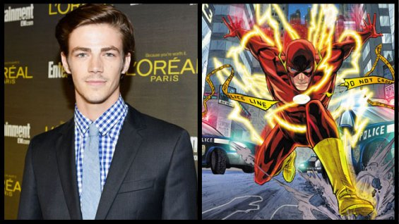 "GRANT GUSTIN IS THE FLASH IN THE CW'S ""ARROW"""
