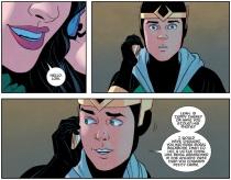 Kid Loki talks with Leah