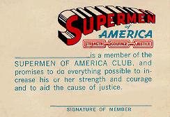 Supermen of America Membership Card