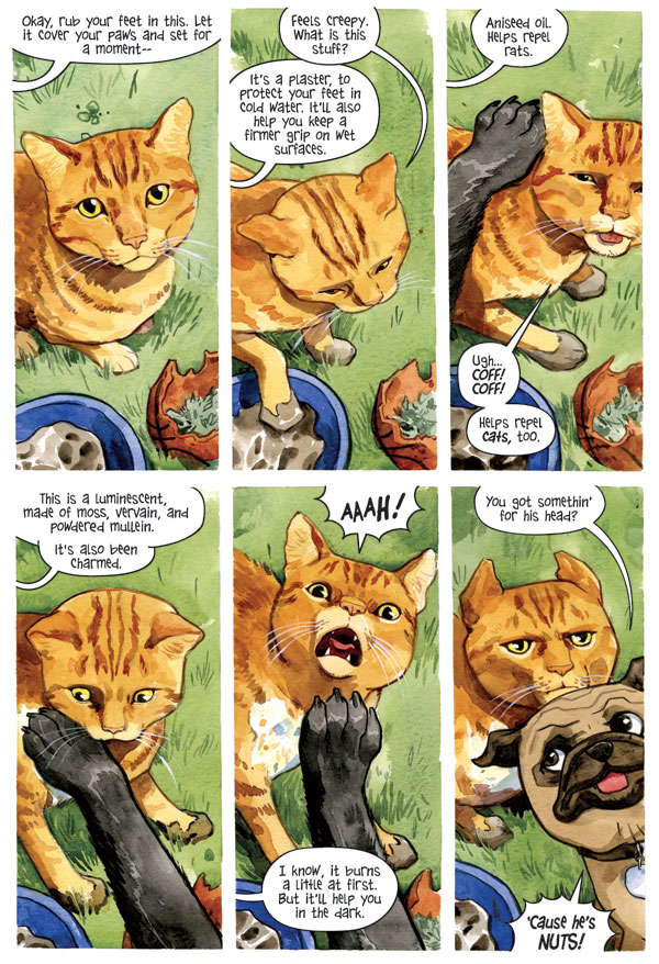 beasts of burden gradually become wise dogs cat nothing but comics