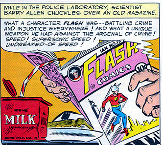 Flash Reads Flash Comic