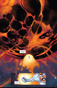 Suddenly grasping the scale of the problem -- stunning -Cosmo from Solar Man of The Atom #6 by Jonathan Lau