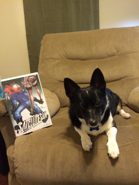 While Sophie would like to show you issue #1 of the hit Image comics series Satellite Sam singed by world famous writer Matt Fraction