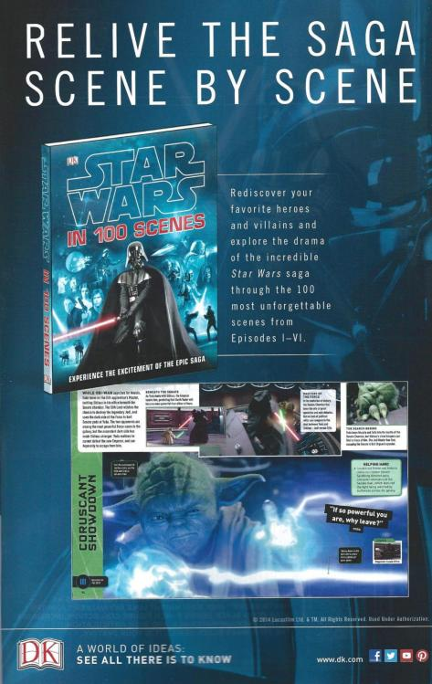 An advertisement for a licensed STAR WARS book from DK Publishing.