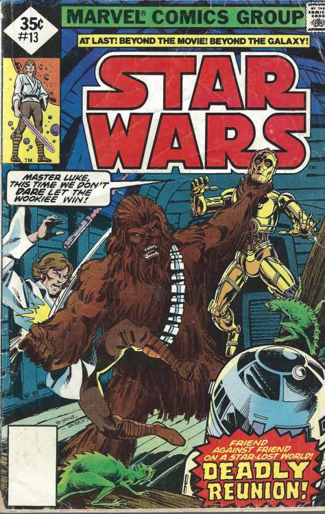 The cover of my vintage copy of STAR WARS #13 (1978)