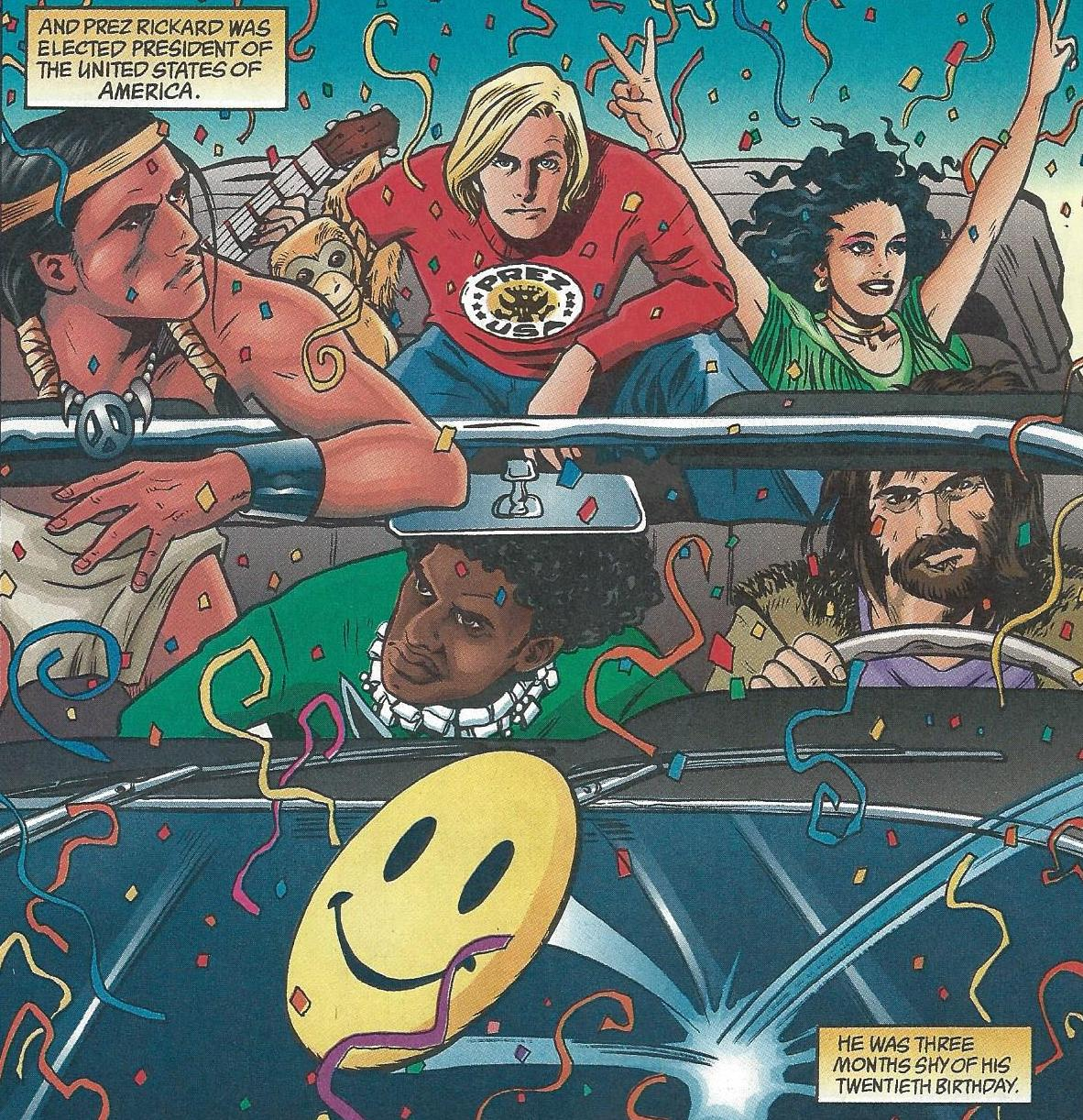 Resultado de imagem para the teenage presidente vertigo comics