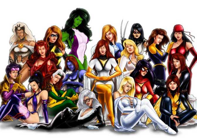 Superheroes vs Women