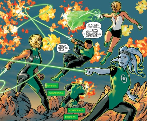 From Green Lantern Lost Army Preview by Jesus Saiz