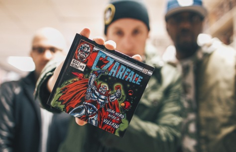 Right to left: DJ 7L, Esoteric & Inspektah Deck are Czarface