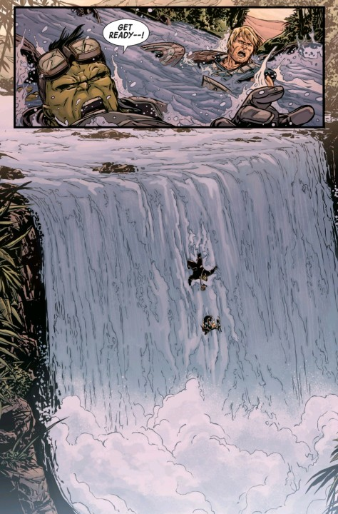 From Planet Hulk #2 by Marc Laming