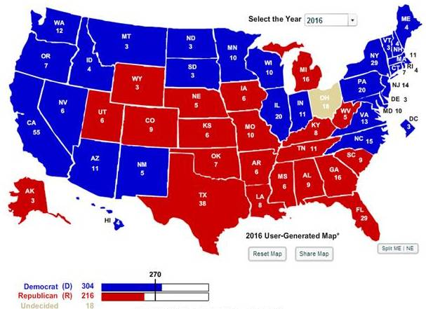 270 Needed To Win A Close Look At The Election Map In