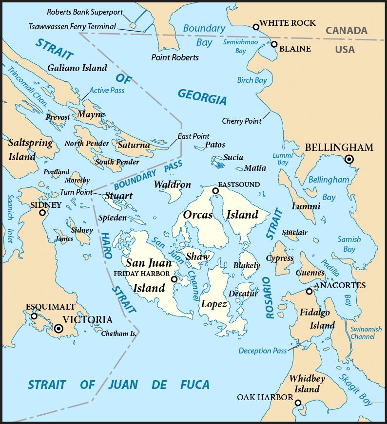 San Juan Islands Map Map