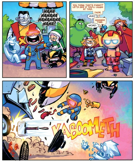 From Giant Size Little Avengers vs X-Men #1 by Skottie Young