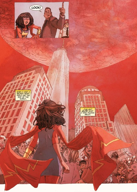 From Ms Marvel #16 by Adrian Alphona