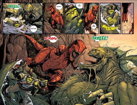 From Planet Hulk #3 by Marc Laming
