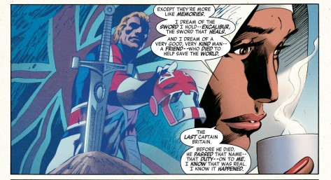 From Captain Britain & The Mighty Defenders #1 by Alan Davis