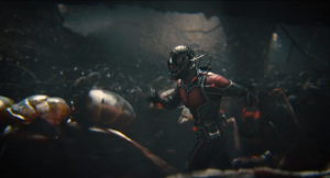 Ant-Man running with ants