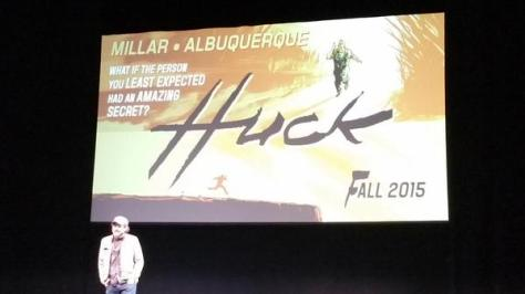 Mark Millar will doing a project with Rafeal Albuquerque titled Huck that will debut in the Fall of 2015