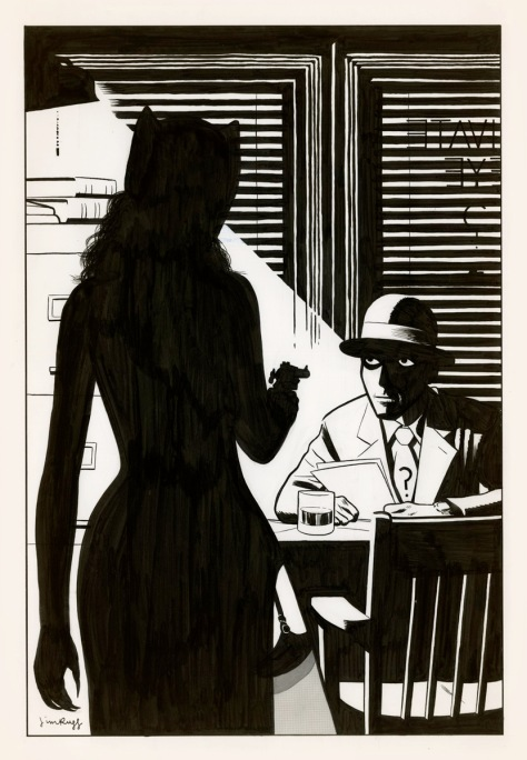 Riddler & Catwoman 40s style Jim Rugg