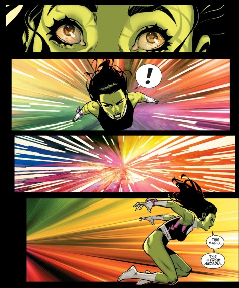 From A-Force #3 by Jorge Molina & Laura Martin