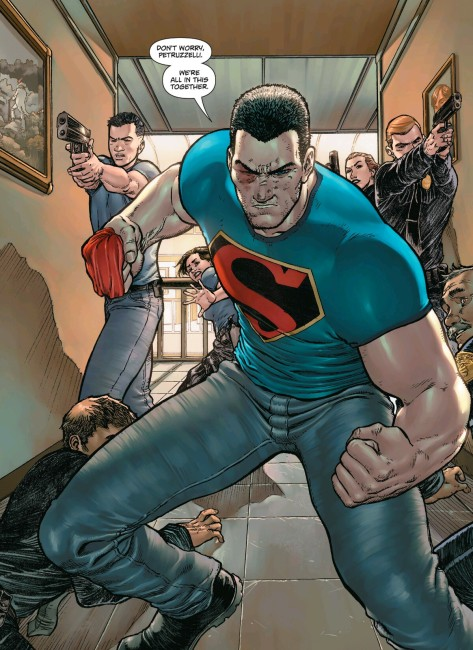 From Action Comics #43 by Aaron Kuder & Tomeu Morey