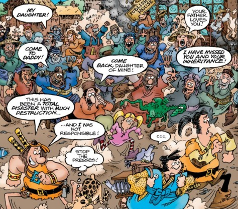 From Groo & Friends #8 by Sergio Aragones & Michael Atiyeth