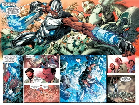 From Cyborg #2 by Ivan Reis & Adriano Lucas