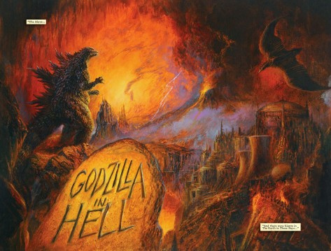 From Godzilla In Hell #3 by Bob Eggleton