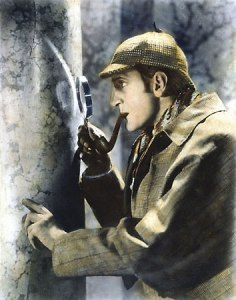And here's Sherlock Holmes, solving the Case of the Missing Aces