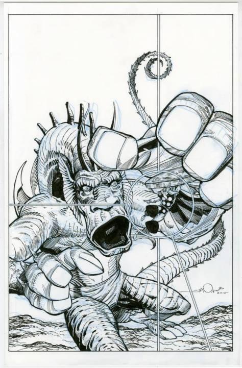 Thor vs Fin Fang Foom Walt Simonson