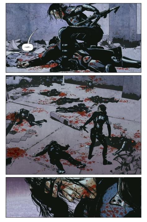 From Lazarus #19 by Michael Lark & Santi Arcas