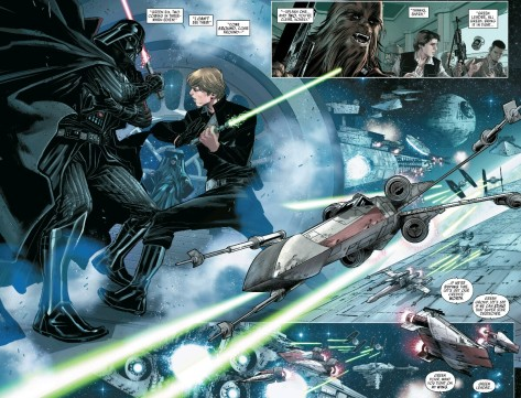 From Star Wars Shattered Empire #1 by Marco Checcheto & Andrea Mossa