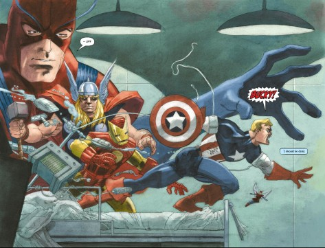From Captain America White #1 by Tim Sale & Dave Stewart