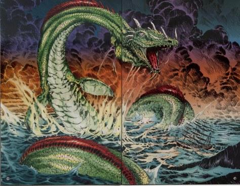 Sandman 53 sea serpent Mike Zulli