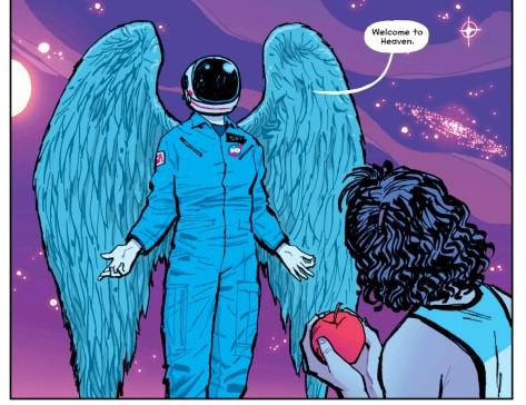 From Paper Girls #1 by Cliff Chiang
