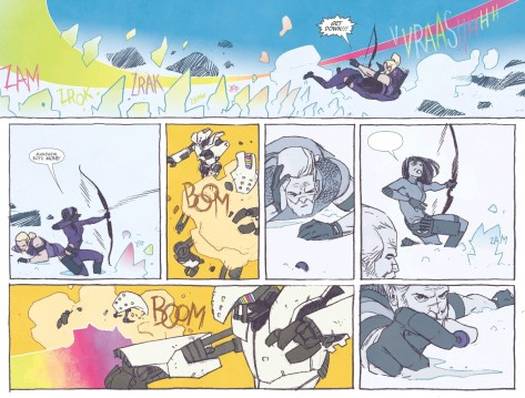 From All New Hawkeye #1 by Ramon Perez & Iran Herring