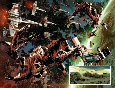 From Star Wars Vader Down #1 by Mike Deodato & Frank Martin Jr