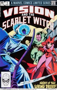 Vision and Scarlet Witch 1 cover Leonardi