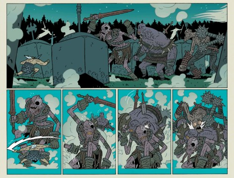 From Head Lopper #2 by Andrew MacClean & Mike Spicer