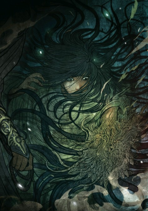From Monstress #2 by Sana Takeda