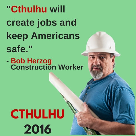 Cthulhu Ad Construction Worker