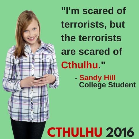 Cthulhu Ad Texting Teen