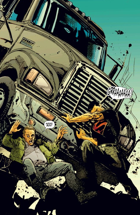 From Superman Annual #3 by Rafa Sandoval, Bill Sienkiewicz & Lee Loughridge