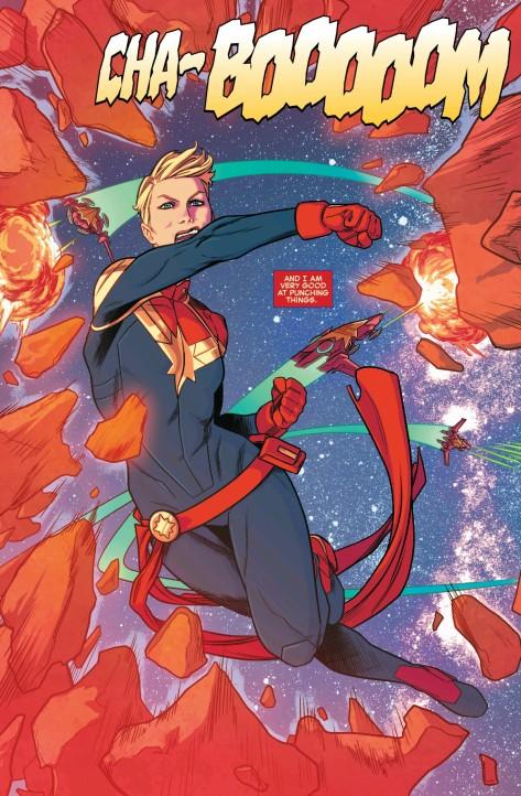From Captain Marvel #1 by Kris Anka & Mathew Wilson