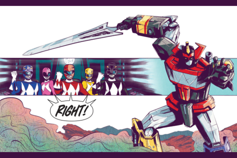 From Mighty Morphin Power Rangers #0 by Daniel Bayliss