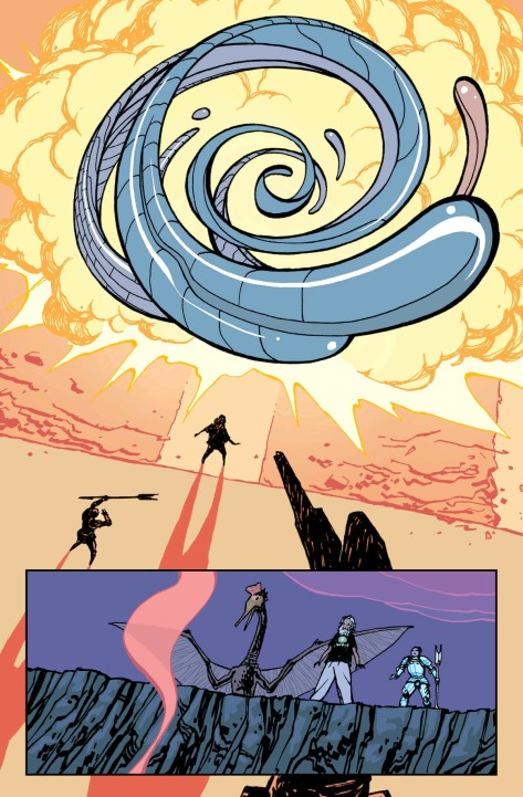 From Paper Girls #5 by Cliff Chiang & Matt Wilson