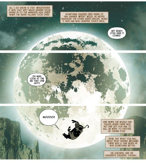 From Old Man Logan #2 by Andrea Sorrentino & Marcelo Maiolo