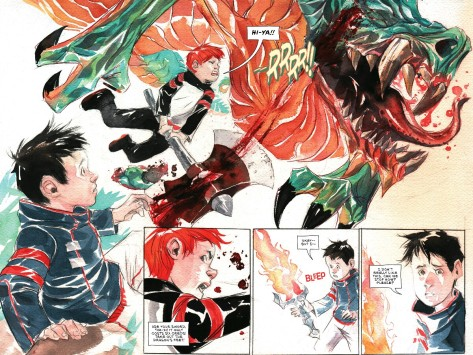 From Descender #10 by Dustin Nguyen