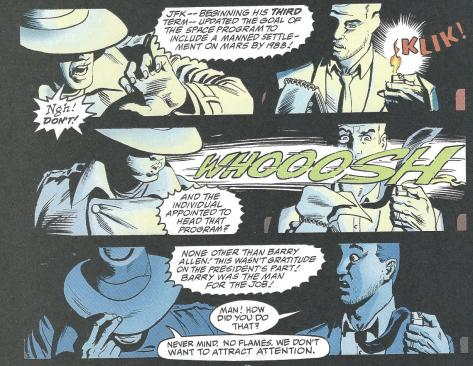 Ralph Dibny and his mysterious client. Art by Norm Breyfogle and Noelle Giddings.