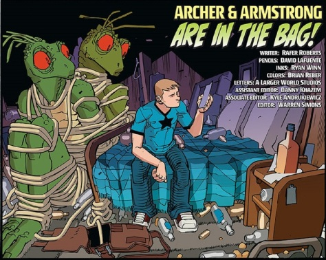 From AA: The Adventures of Archer & Armstrong #1 by David Lafeuente, Ryan Winn & Brian Reeder